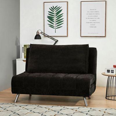Sofacama Monaco Negro 120x86x78cm