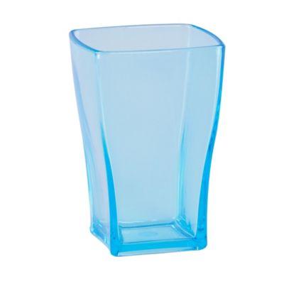 Vaso Cuadrado de 270 cc Azul Acrílico
