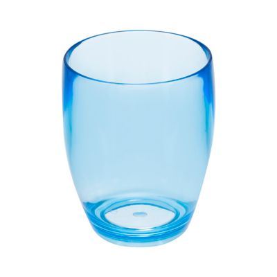 Vaso Oliva de 410 cc Azul Acrílico