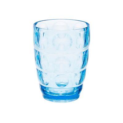 Vaso Redondo 400Cc Corto Azul Acrílico