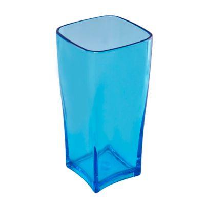 Vaso Cuadrado 420Cc Alto Azul Acrílico