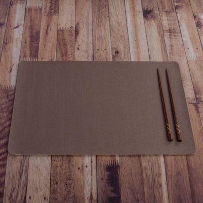 Individual PVC Relieve Brown 43.5x28.5cm
