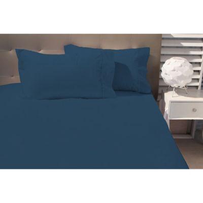 Sabana Ajustable 144 Hilos Extradoble Azul