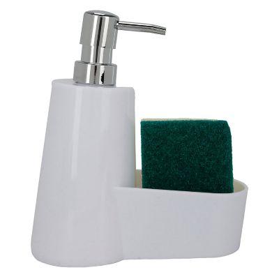 Dispensador de Jabón Plástico con Esponja Blanco