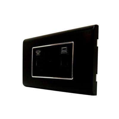 Toma CaTV Coaxial y conECT RJ-11 4 Hilo Ornatto