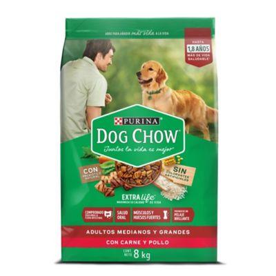 Dog Chow adultos razas medianas y grandes x 8 kilos