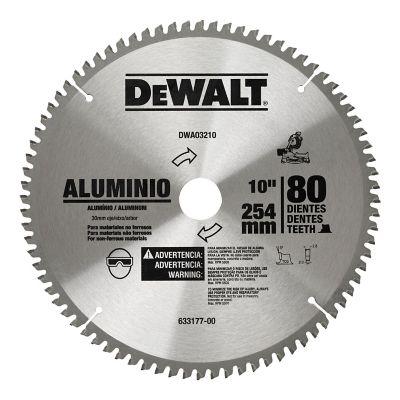 Disco Corte Aluminio 10 Pulgadas 80 Dientes  Ref DW03210