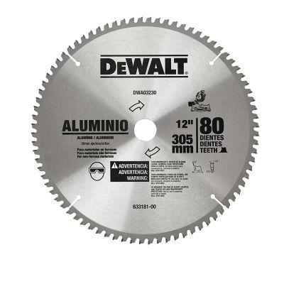 Disco Corte Aluminio 12 Pulgadas 80 Dientes  Ref DW03230