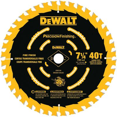 Disco Madera 7-1/4 40 Dientes Precision  Ref DW3194
