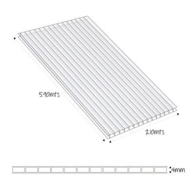 Lámina Alveolar 4mm 5.90X2.10mt Bronce