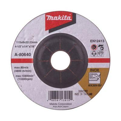 Disco Abrasivo Desbaste Acero Inoxidable 4 1/2x1/4 pulgada A-80640