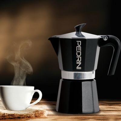 Cafetera 6 Tazas Espress Negro