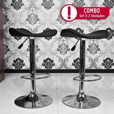 Silla Bar Galicia Negra x2 Unidades