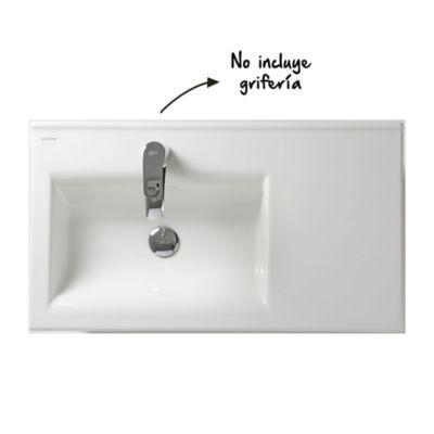 Lavamanos Pontus 80 Con desagüe Blanco