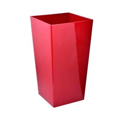 Macetero Autorregante Cúbica Roja D28/H54 cm
