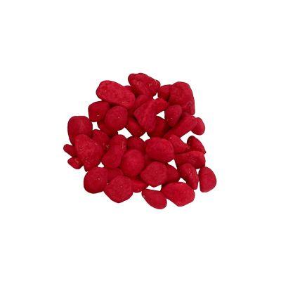 Piedra decorativa en color rojo  en presentacion 1000 g para decorar floreros, jarrones, jardines, este producto es fuerte a rayos ultavioletas y no decolora al mezclarse con el agua