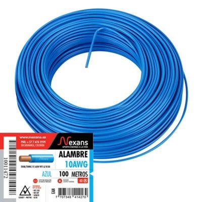 Alambre #10 100m Azul