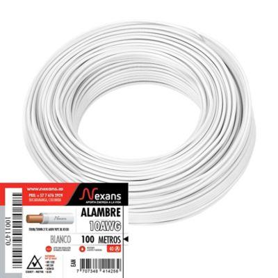 Alambre #10 100m Color Blanco