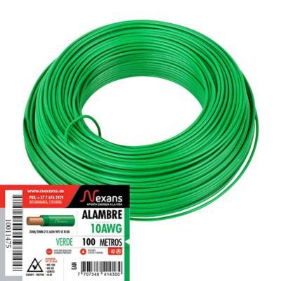 Alambre #10 100m Verde
