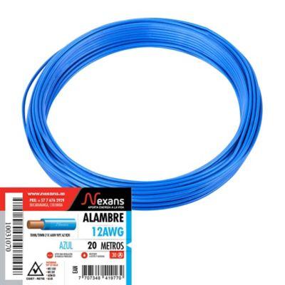 Alambre #12 20m Azul