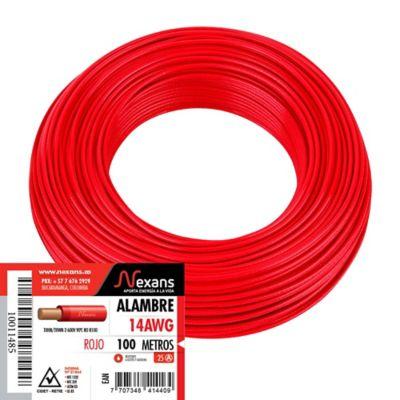 Alambre #14 100m Color Rojo