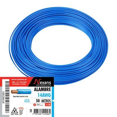 Alambre #14 50m Azul