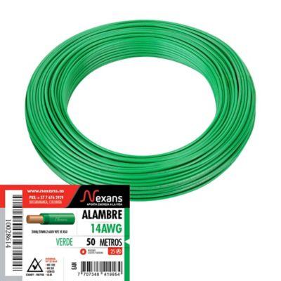 Alambre #14 50m Verde