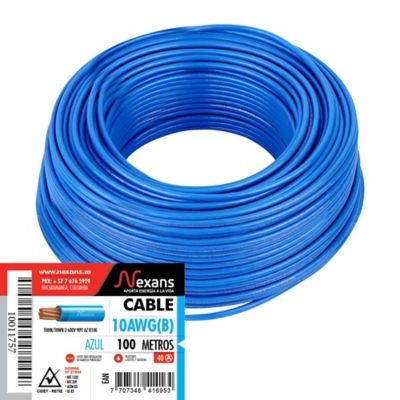 Cable #10 100m Azul