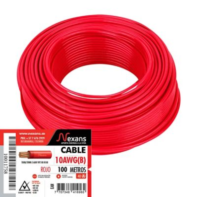 Cable #10 100m Rojo