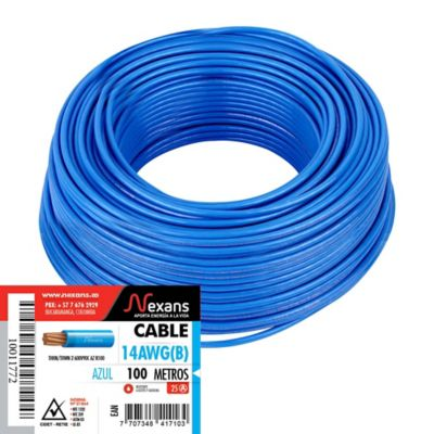 Cable #14 100m Azul