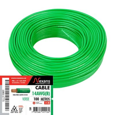 Cable #14 100m Verde