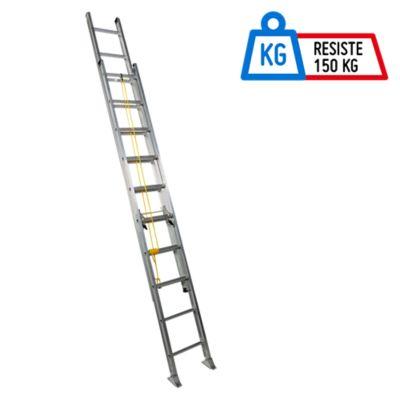 Escalera 6.09mt 20 Pasos Extensión Aluminio 136kg T1A