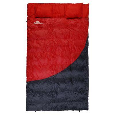Saco de Dormir 230 x 135 cm Doble Rojo Con Gris