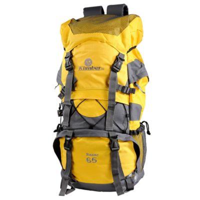 Mochila para Camping Rasac 65 Litros Amarillo con Gris