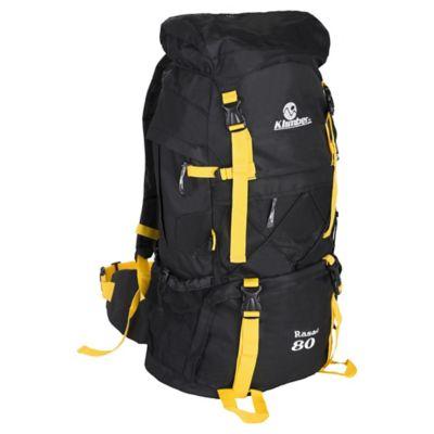 Mochila para Camping Rasac 80 Litros Negro con Amarillo