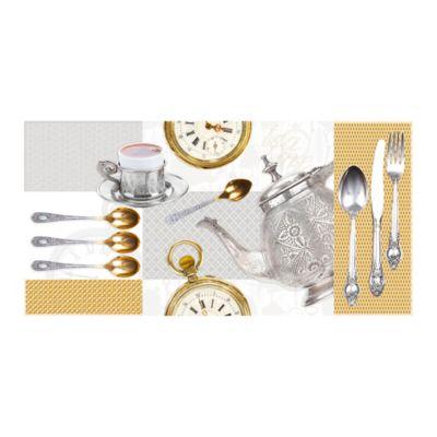 Base Cerámica Decorada para Cocina Tea Time 30x60 Centímetros Multicolor