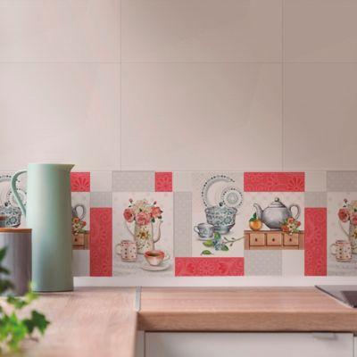 Base Cerámica Decorada para Cocina Camelia 30x60 Centímetros Multicolor