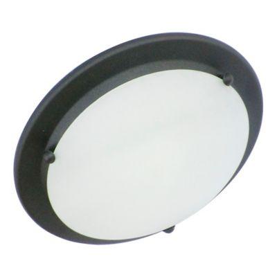 Plafón Brico 1 Luz Rosca E27 28cm 60w Negro