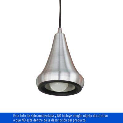 Lámpara Colgante 1 Luz Rosca E27 60w Aluminio Plata