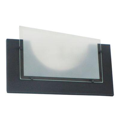 Aplique Rectangular Vidrio 1 Luz Rosca E27 60w Negro