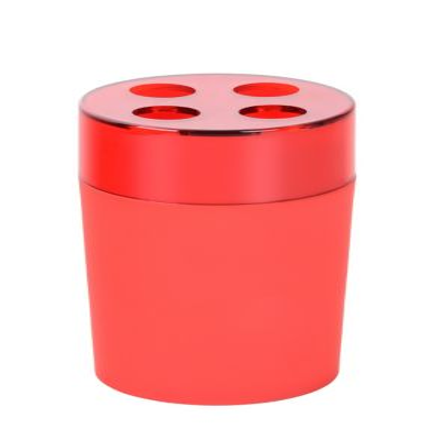 Portacepillo Plástico Rojo