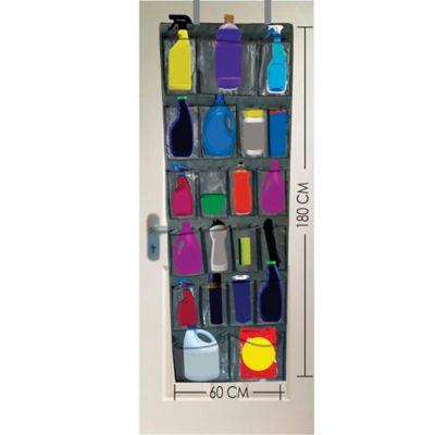 Organizador De Productos Aseo  Puerta 160x60 cm 20 Bolsillos  Negro