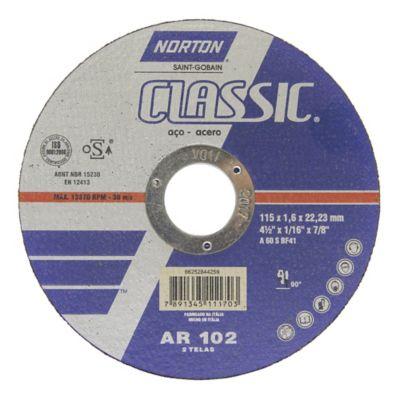Disco Abrasivo Corte Metal Aceros 4.1/2-pulg x 1.6mm