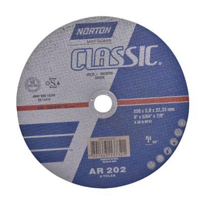 Disco Abrasivo Corte Metal Aceros 9pgx2mm Nort 66252844885