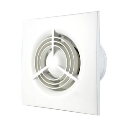 Extractor para Pared y Techo 18x18x11 cm Blanco
