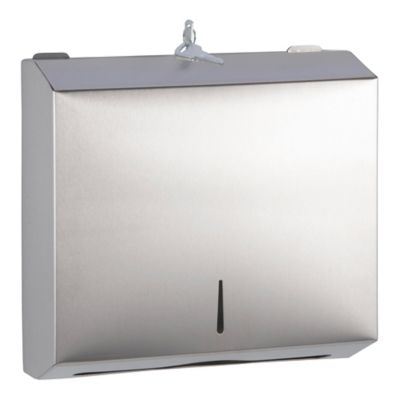 Dispensador Rectangular Toallas Manos Acero Inox