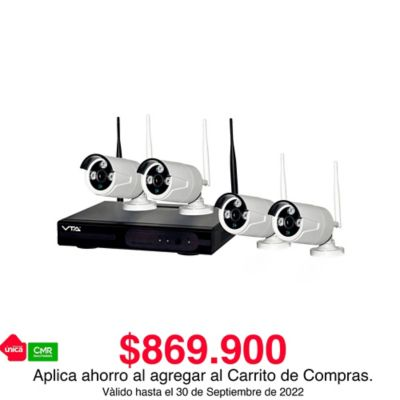 Kit DVR IP 4 Cámaras Inalámbricas Hd 720p