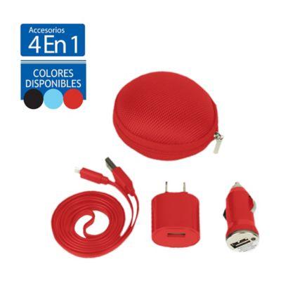 Set Accesorios Para Carga Smartphone 4 En 1