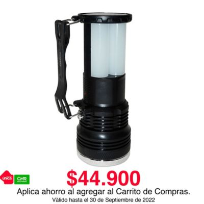 Linterna Recargable y Solar Doble Iluminación