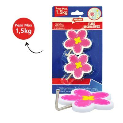 Gancho Adhesivo Decorativo Flor x 2und